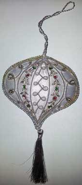 Kerstboomversiering hanger-zilver-kwast