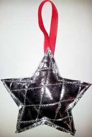 Kerstversiering zilveren ster