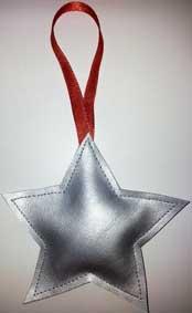Kerstboomversiering hanger-zilver2